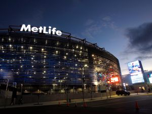EAST RUTHERFORD, NJ - JANUARY 1: Exterior of MetLife Stadium before the start of the Dallas Cowboys vs New York Giants on January 1, 2012 in East Rutherford, New Jersey. (Photo by Rich Schultz /Getty Images)