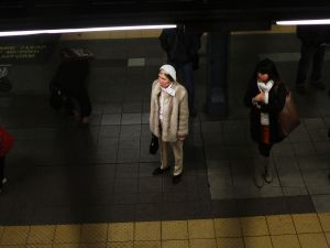 A woman waits for a train in New York City. (Photo: Spencer Platt/Getty Images)