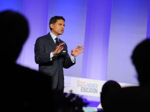 NEW YORK, NY - SEPTEMBER 19: Fareed Zakaria speaks at the TIME Summit On Higher Education Day 1 at Time Warner Center on September 19, 2013 in New York City. (Photo by Bryan Bedder/Getty Images for TIME)