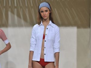 Frame's first go at swimwear (Photo: Fernando Leon/Getty Images).
