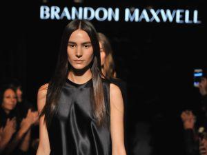 Brandon Maxwell unveils his first fashion show (Photo: Fernando Leon/Getty Images for Brandon Maxwell).