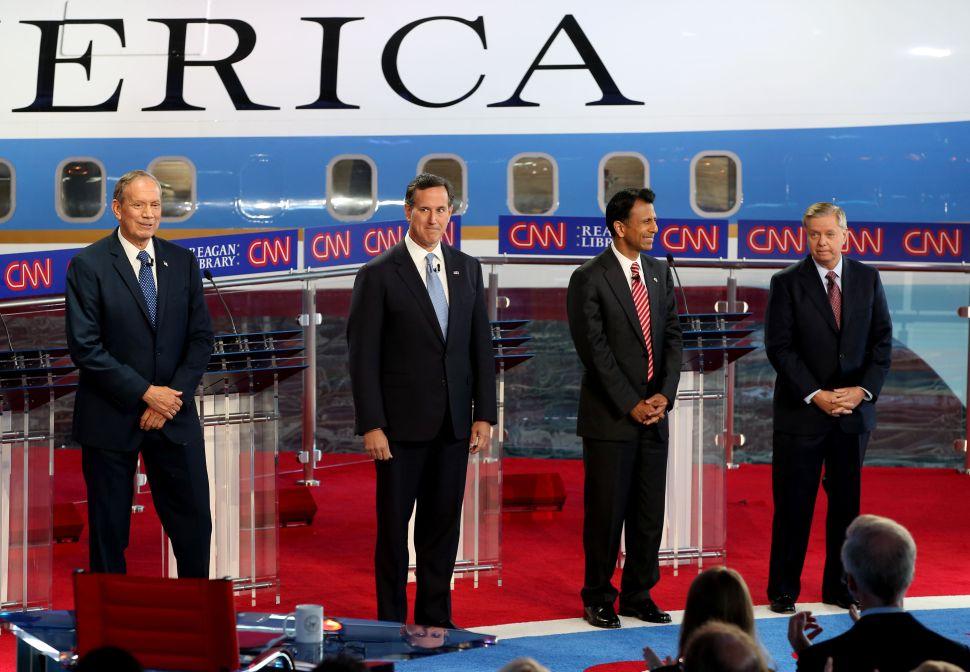Not-So-Fantastic Four Duke It Out at CNN's First Republican Debate