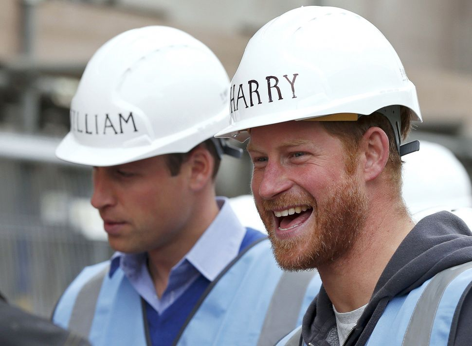 Prince William and Prince Harry Look Amazing in Hard Hats