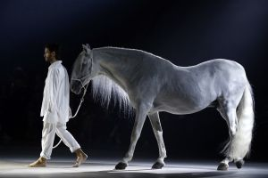 Designer Simon Porte and his equis (Photo: Francois Guillot/AFP/Getty Images).