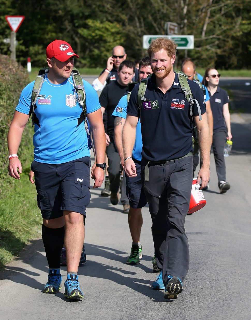 Prince Harry Gets Physical for Charity Veterans' Walk