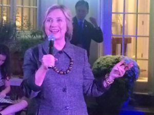 Clinton at her September 24 fundraiser in Cresskill.
