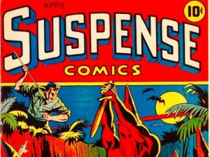 Record-etting issue of Suspense Comics (detail shown).
