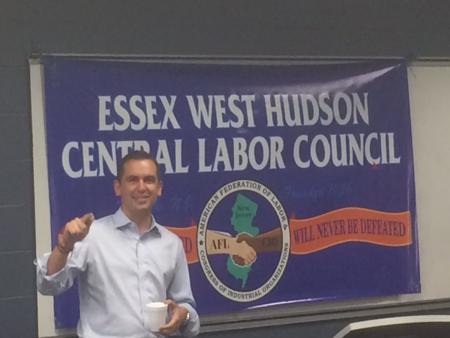 Fulop Addresses West Essex Labor as Sweeney Heads for Jersey City