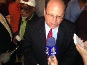 Barry Grodenchik declares victory (Photo: Will Bredderman/New York Observer).
