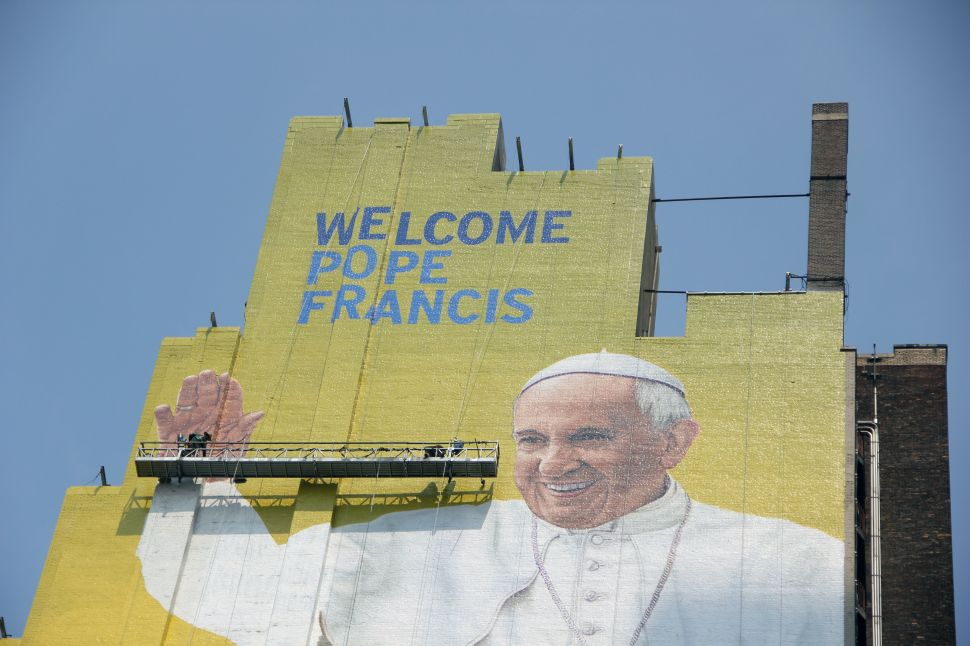 Midtown's Giant Mural of Pope Francis Is a Holy Sight