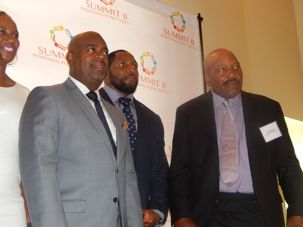 Baraka Leads Public Safety Summit in Newark with Jim Brown and Ray Lewis