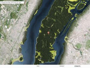 Over head satellite imaging of New York circa 1609. (Photo: Curbed NY)