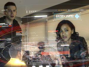 MINORITY REPORT: L-R: Stark Sands and Megan Good in MINORITY REPORT airing Monday, Sep. 21 (9:00-10:00 PM ET/PT) on FOX. CR: Bruce MacCauley / FOX. © 2015 FOX Broadcasting.
