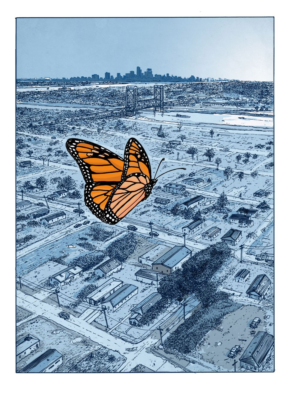With Ruins, Peter Kuper Floats Like a Butterfly
