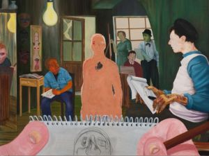 Nicole Eisenman, The Drawing Class, 2011. (Photo: Anton Kern Gallery)
