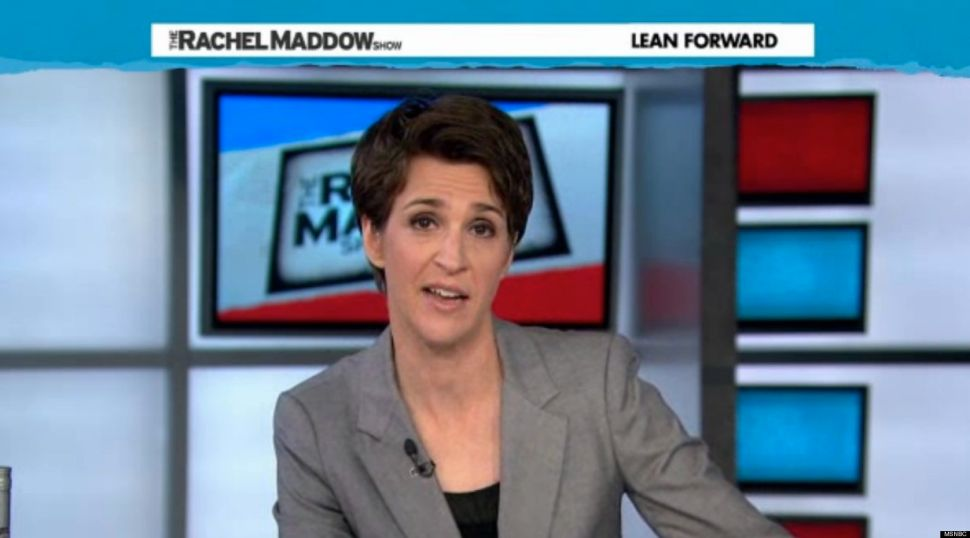 Rachel Maddow, MSNBC's Progressive Star, Too Often Rambles in Word Circles