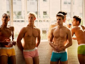 Parke & Ronen models before a NYFW show (Photo: Parke & Ronen).