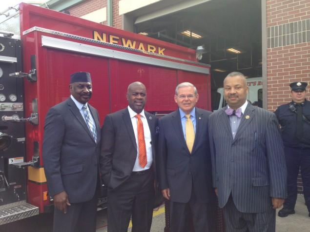 Menendez, Booker, Payne, Baraka Announce $7.4 Million for Newark Firefighters