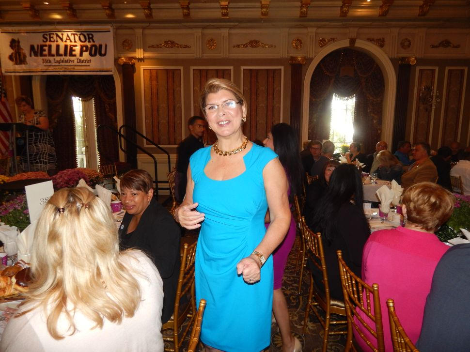 Pou Draws a Big Crowd, including Dueling Guv Hopefuls, at the Brownstone