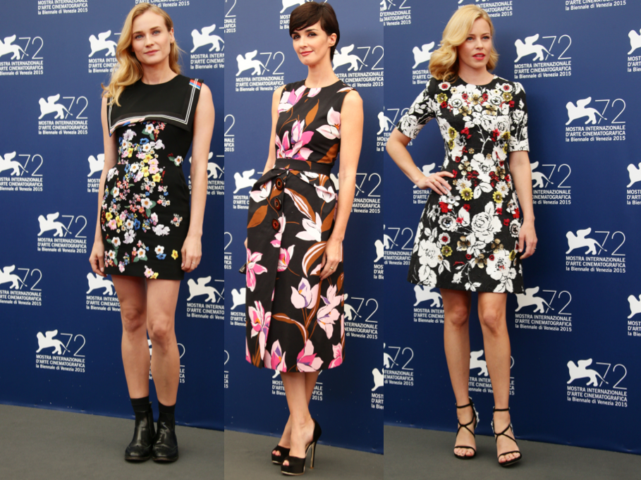 Florals Reign Supreme on the First Day of the Venice Film Festival