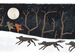 Google Doodle for Joan Aiken's 91st birthday. (Image: screenshot)
