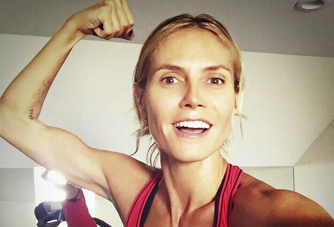 Running With Heidi Klum, Handstands With Hilaria Baldwin: Your Weekly Workout Plan