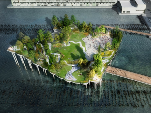 Rendering of Pier 55 by Heatherwick Studio.