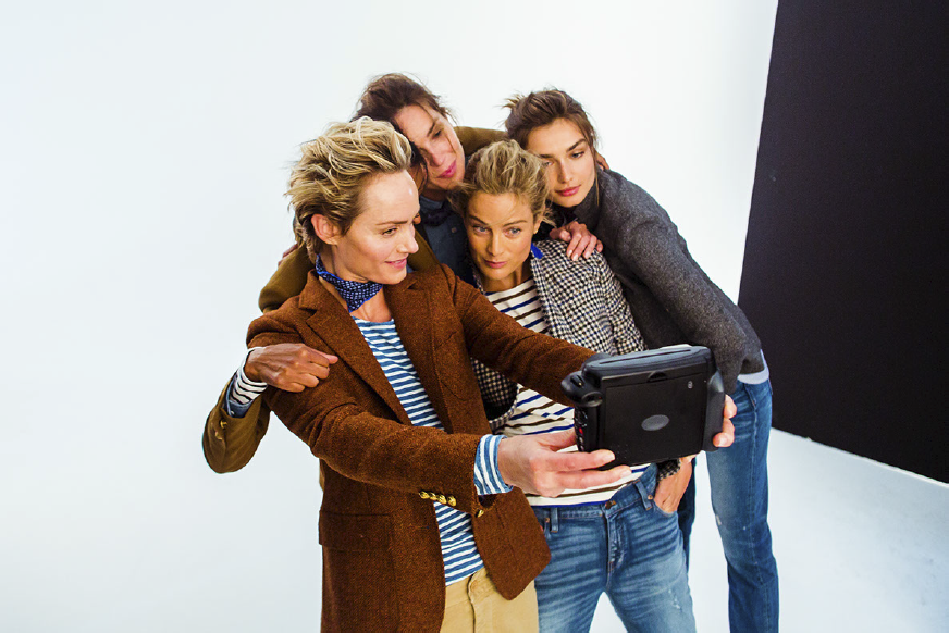 Go Behind the Scenes With the Supermodel Stars of J. Crew's Newest Style Guide