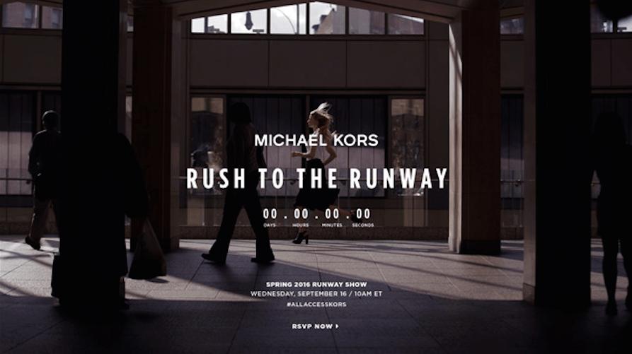 Watch Michael Kors' Runway Show Live at 10 A.M.