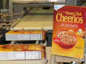 General Mills' first box of gluten-free Honey Nut Cheerios. (Photo: Facebook)