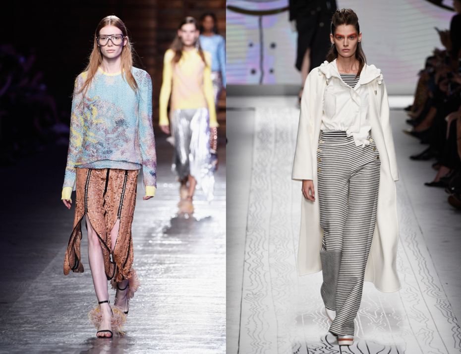 Nautical Inspired Collections Swept Milan Fashion Week