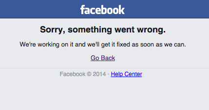 Alert, Alert! Facebook Is Down