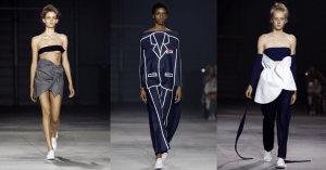 Three looks from the Spring 2016 collection (Photos: Getty Images).