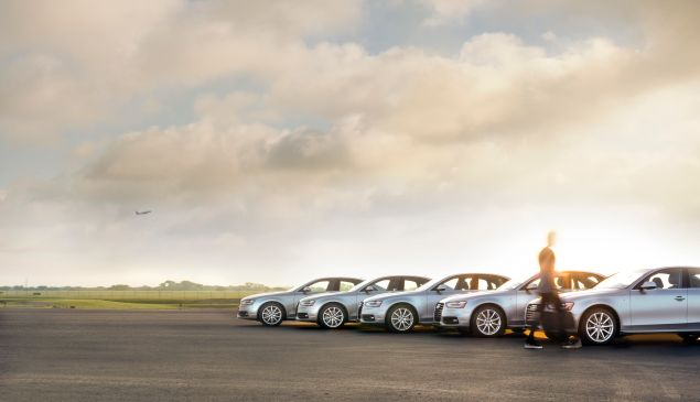A sleek fleet of Silvercar Audi A4's (Photo: Courtesy Silvercar).