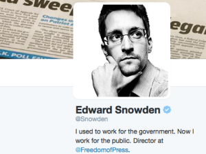 Edward Snowden already has more than 300K Twitter followers in less than 3 hours. (Photo: Twitter)