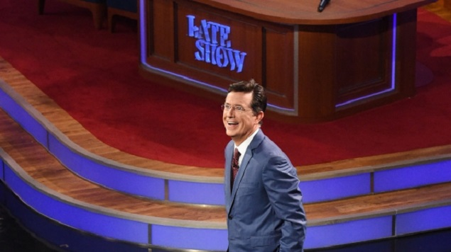 'The Late Show with Stephen Colbert' Debuts, Erratic and Promising