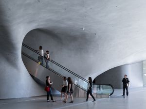 The exterior of the Broad Museum, which opened September 20 in downtown Los Angeles. (Photo: Iwan Baan/Courtesy the Broad Museum)