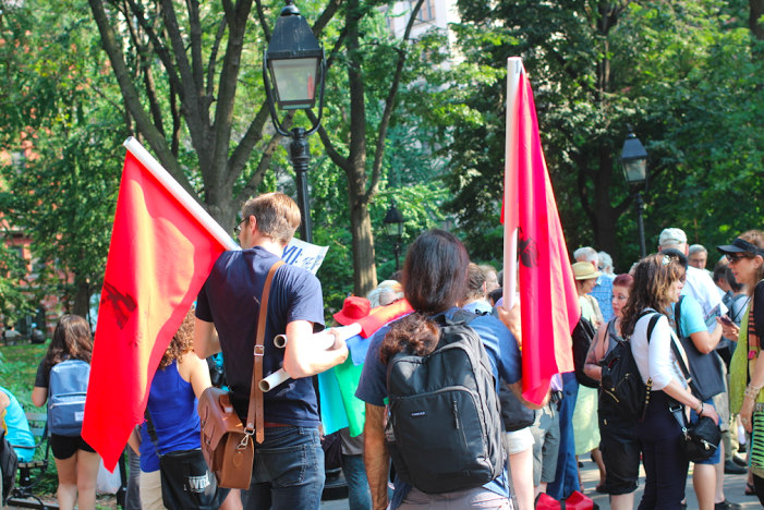Student Debt, Sex Work, and the Cost of NYU 2031 at Greenwich Village Rally