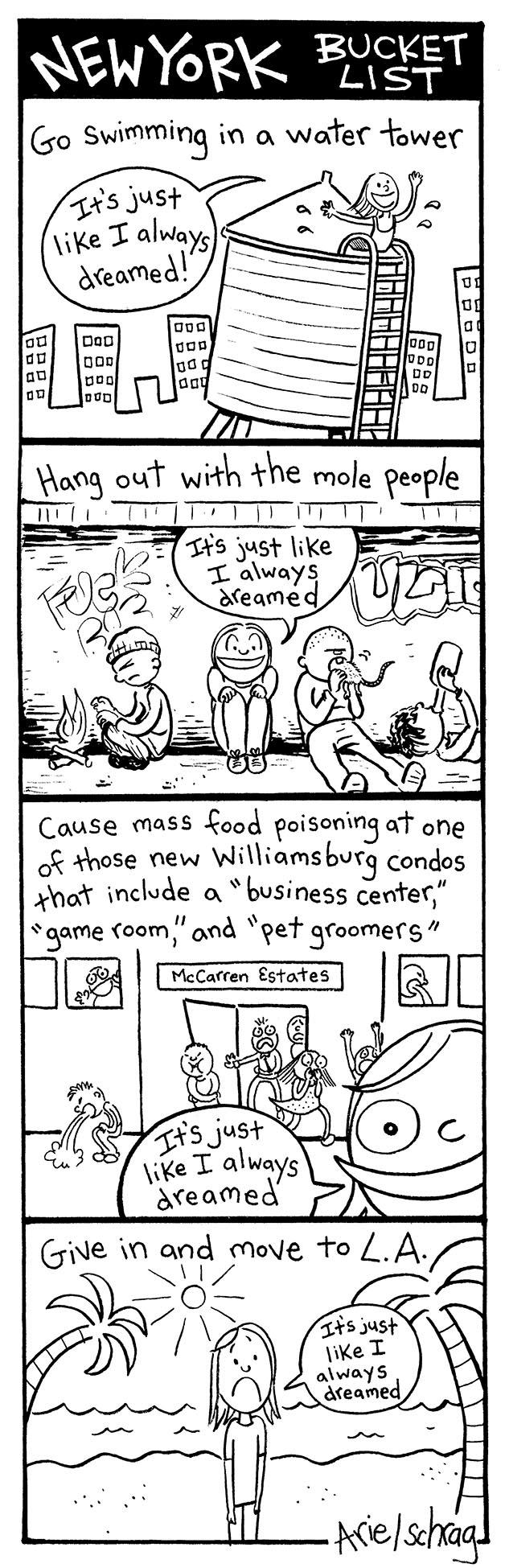 Cartoonist Ariel Schrag's New York Bucket List