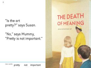 Miriam Elia's viral book perfectly parodies the 1960s Ladybird readers, with a twist of modern humor. (Image: wegotothegallery.com)