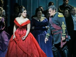 Sonya Yoncheva as Desdemona and Aleksandrs Antonenko in the title role of Verdi's Otello. (Photo: Ken Howard/ Metropolitan Opera)
