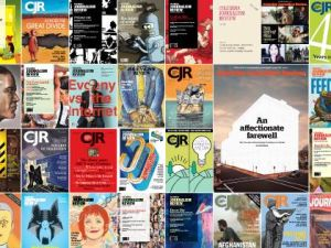 A selection of Columbia Journalism Review covers. The magazine announced today that it will now only publish twice a year in print. (Photo: Facebook)