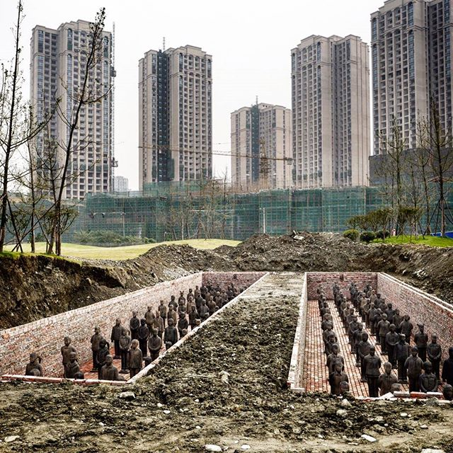 Prune Nourry's 'Terracotta Daughters' Army Is Readied for Burial in China
