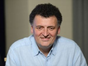 SAN DIEGO, CA - JULY 20: Writer Steven Moffat attends day 3 of the WIRED Cafe at Comic-Con on July 20, 2013 in San Diego, California. (Photo by Michael Kovac/WireImage)