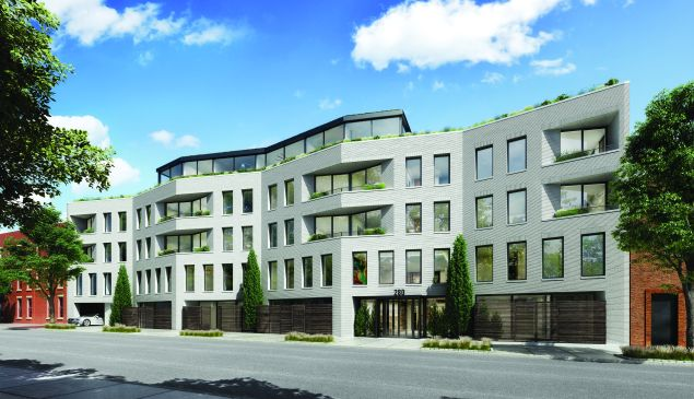 Building construction has an expected completion date of December 2016, and will include one- to four-bedroom units. (DXA Studio)