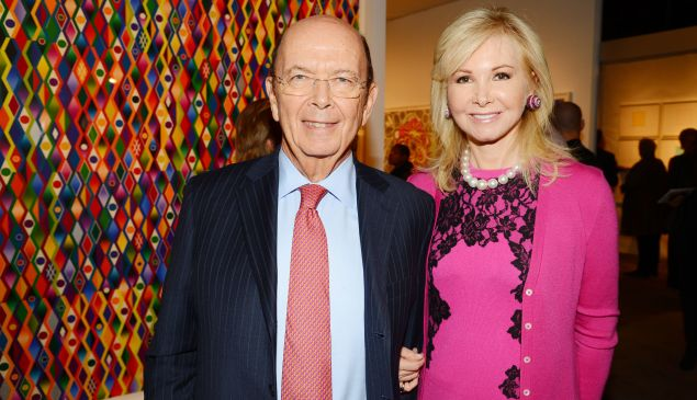Wilbur Ross Jr. and his wife, Hilary Geary Ross, have put their penthouse on the market for $21 million. (Patrick McMullan)