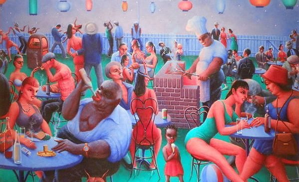 A painting by Archibald Motley.