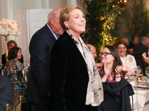 Julie Andrews at the New York Botanical Garden's Rose Garden Dinner. Ms. Andrews and Rose Garden curator Stephen Scanniello were honorees this year. (Photo: Kelly Taub/BFA.com)
