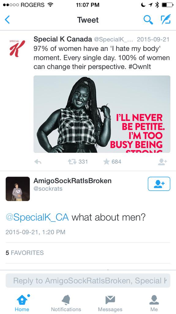 Tweet About Men Being Left Out of Special K Advertising Goes Viral