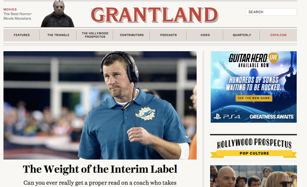 Grantland Writers Past and Present Eulogize Site on Twitter